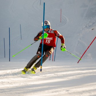 ski racer at Red River ski resort in New Mexico