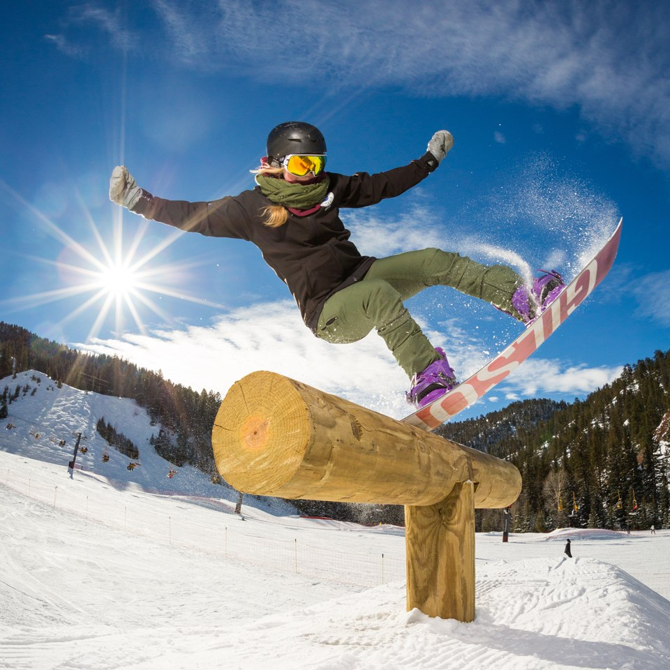 snowboarder in the terrain park