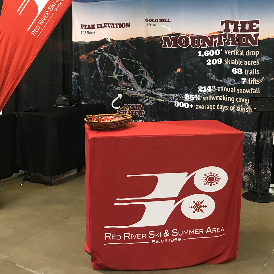 red river ski area booth at trade show