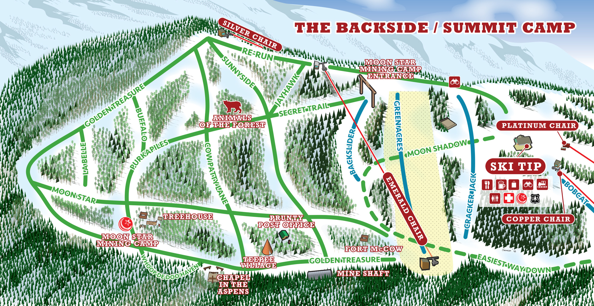 Red River backside trail map