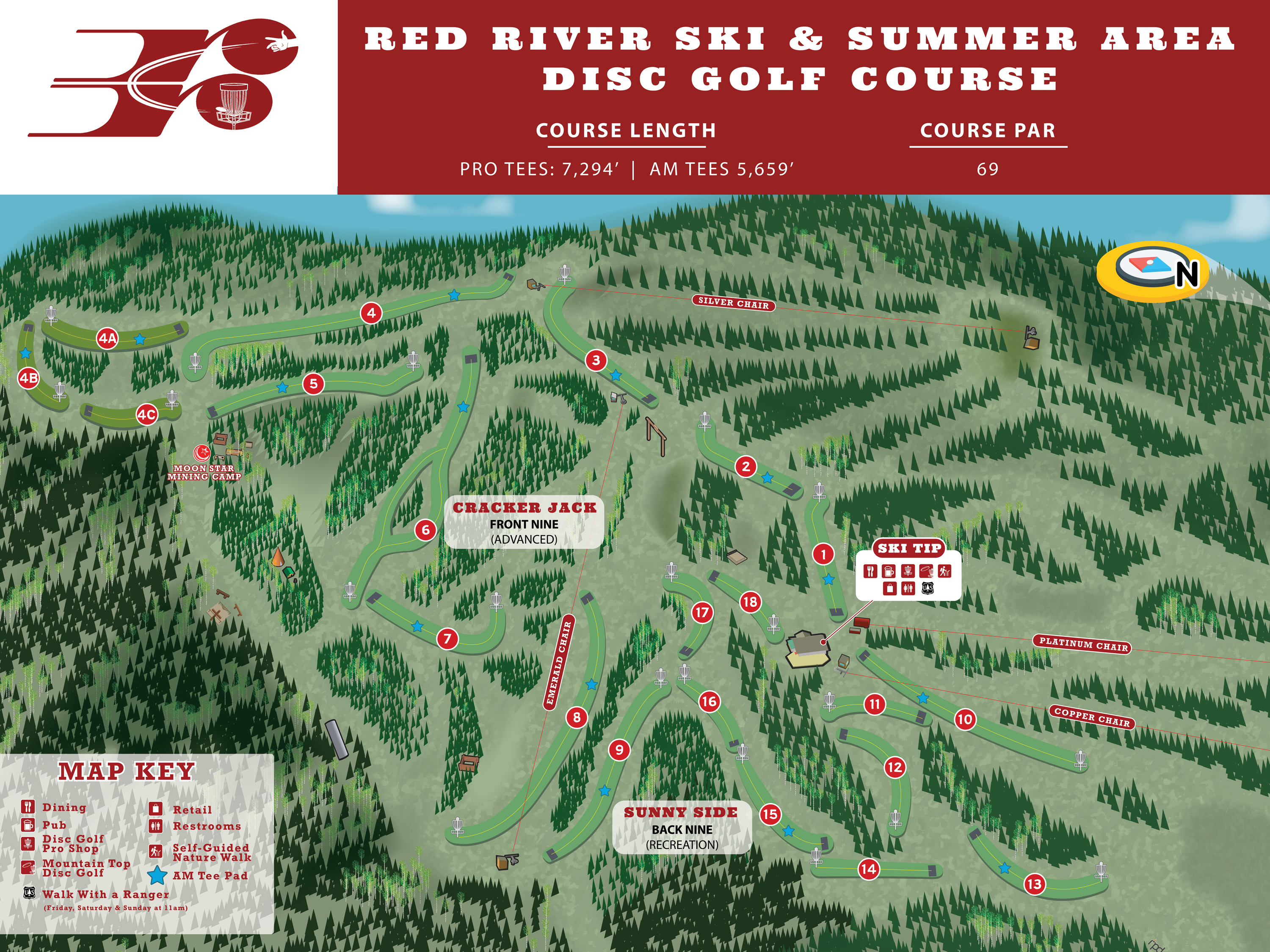 Red River disc golf map